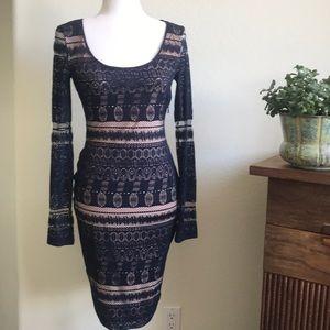 BCBG MaxAzria Tanya Scoop-Neck Lace Dress Size XS